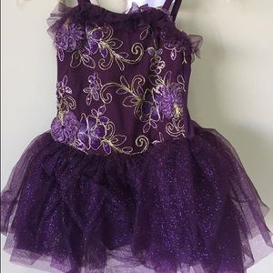 Purple dance costume